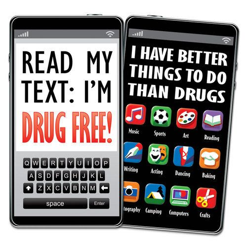 Read My Text I'm Drug Free! Bookmark | School | Drug free