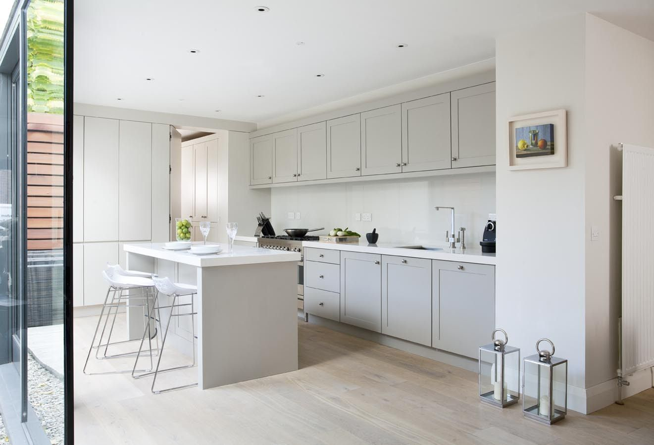 Best Shaker Style French Grey Kitchens Painted In French Grey 640 x 480