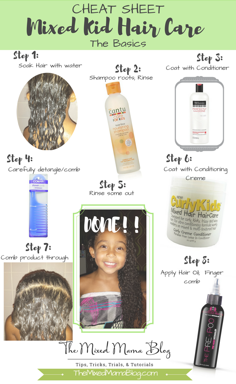 Cheat Sheet for Mixed Kids Hair Care - The Basics - #basics ...