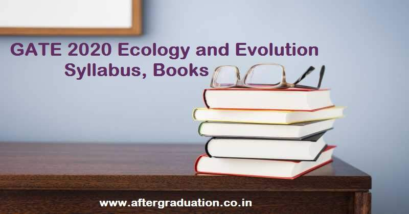 GATE 2020 Ecology and Evolution Syllabus, Books for