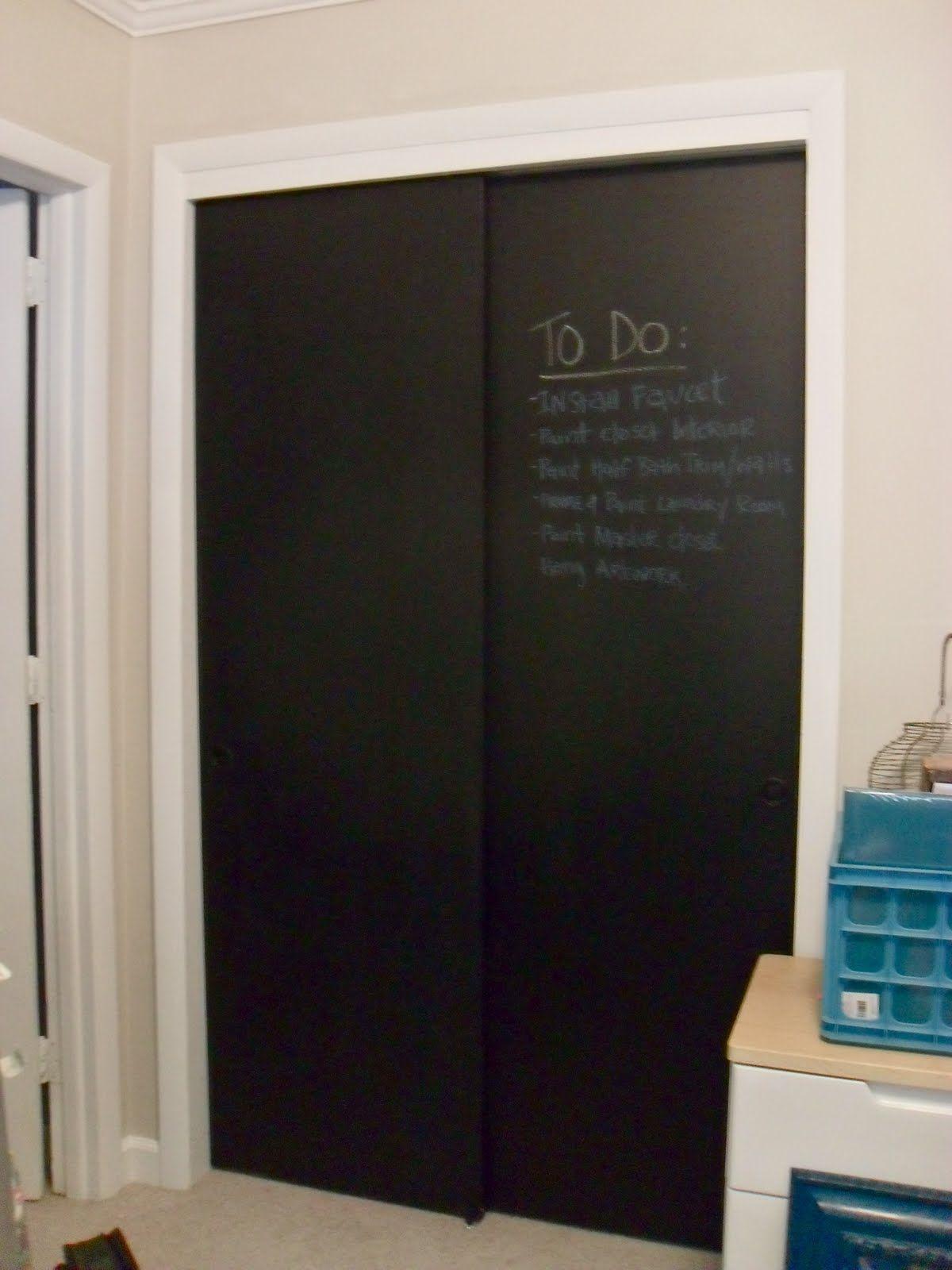 Magnetic Chalkboard Closet Doors Httpsourceabl Pinterest