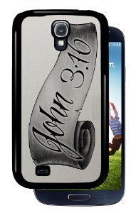 Amazon.com: John 3:16 Banner - Black Samsung Galaxy S4 Dual Protective Durable Case BRUSHED ALUMINUM: Cell Phones & Accessories