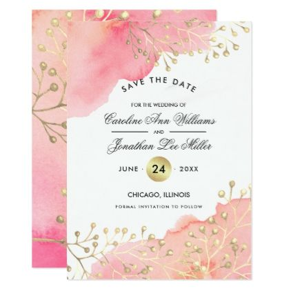 save the date watercolor wedding announcement weddings wedding