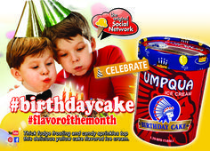 UMPQUA BIRTHDAY CAKE ICE CREAM. FEBRUARY FLAVOR OF THE MONTH. Thick fudge frosting and candy sprinkles top this delicious yellow cake flavored ice cream.