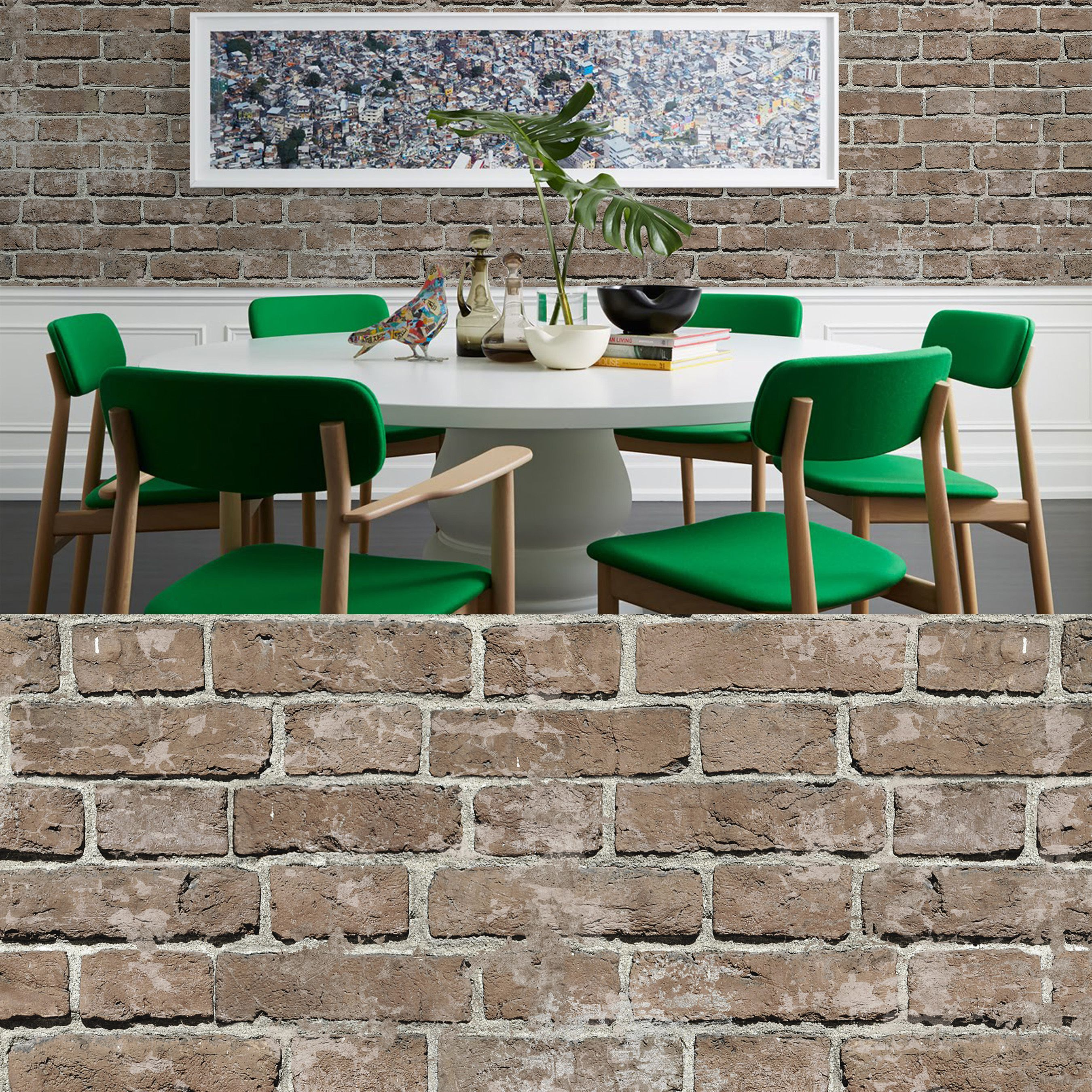 2D brick pattern design HD Walls digital wallpaper design STOCKHOLM in colorway