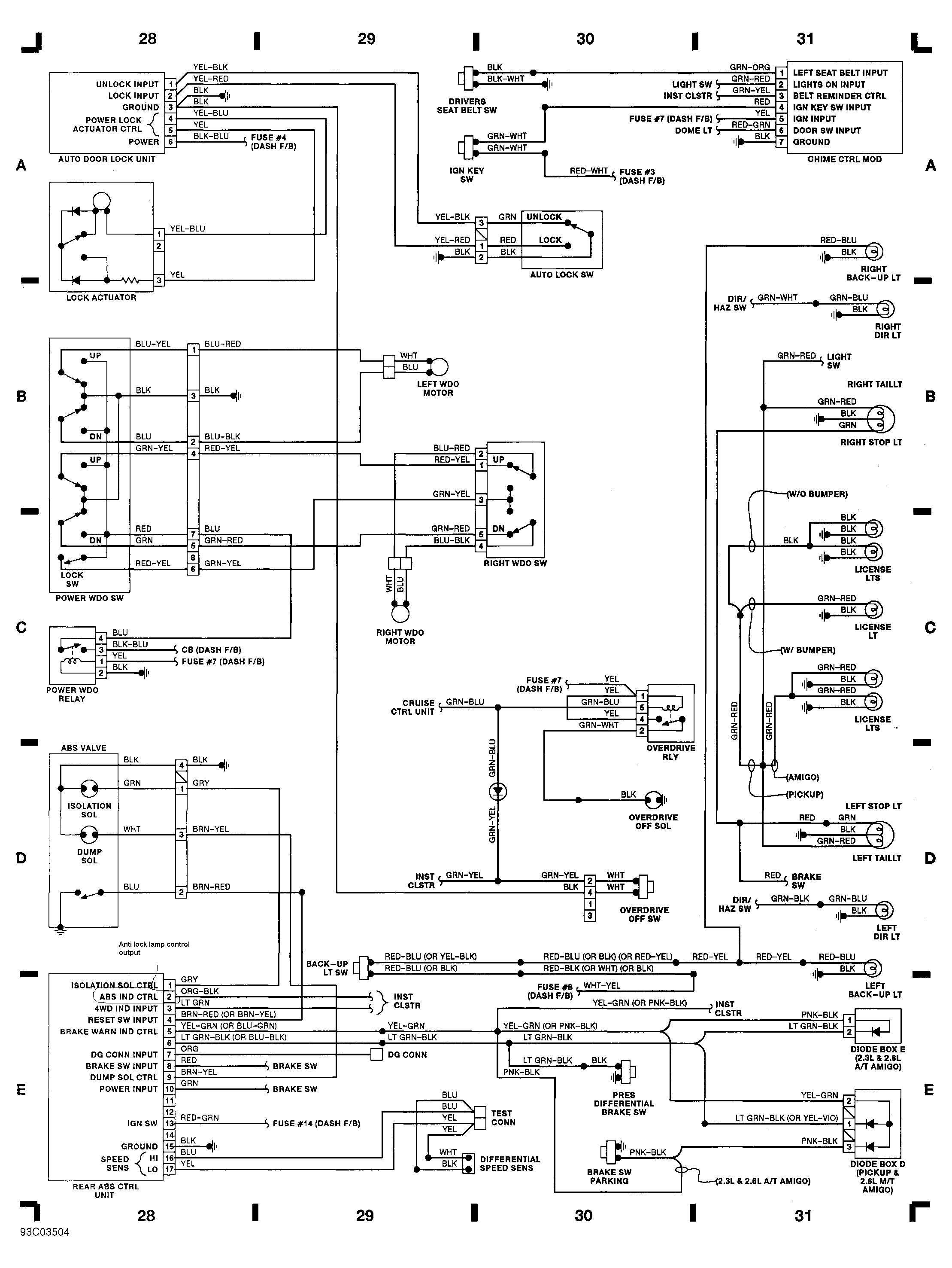 Toyota Wiring Diagrams 01 charts,free diagram images