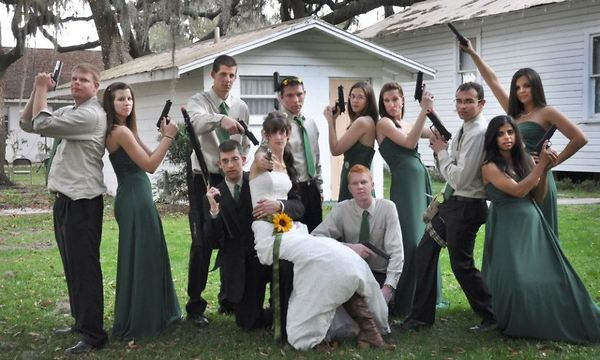 Gangster Wedding If You Decided To Get Gun Props P Might Be Fun