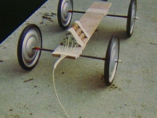 Roman Signer (Swiss, born 1938)  Carriage  Date:n/aMedium:Super 8 film transferred to video (color, silent)