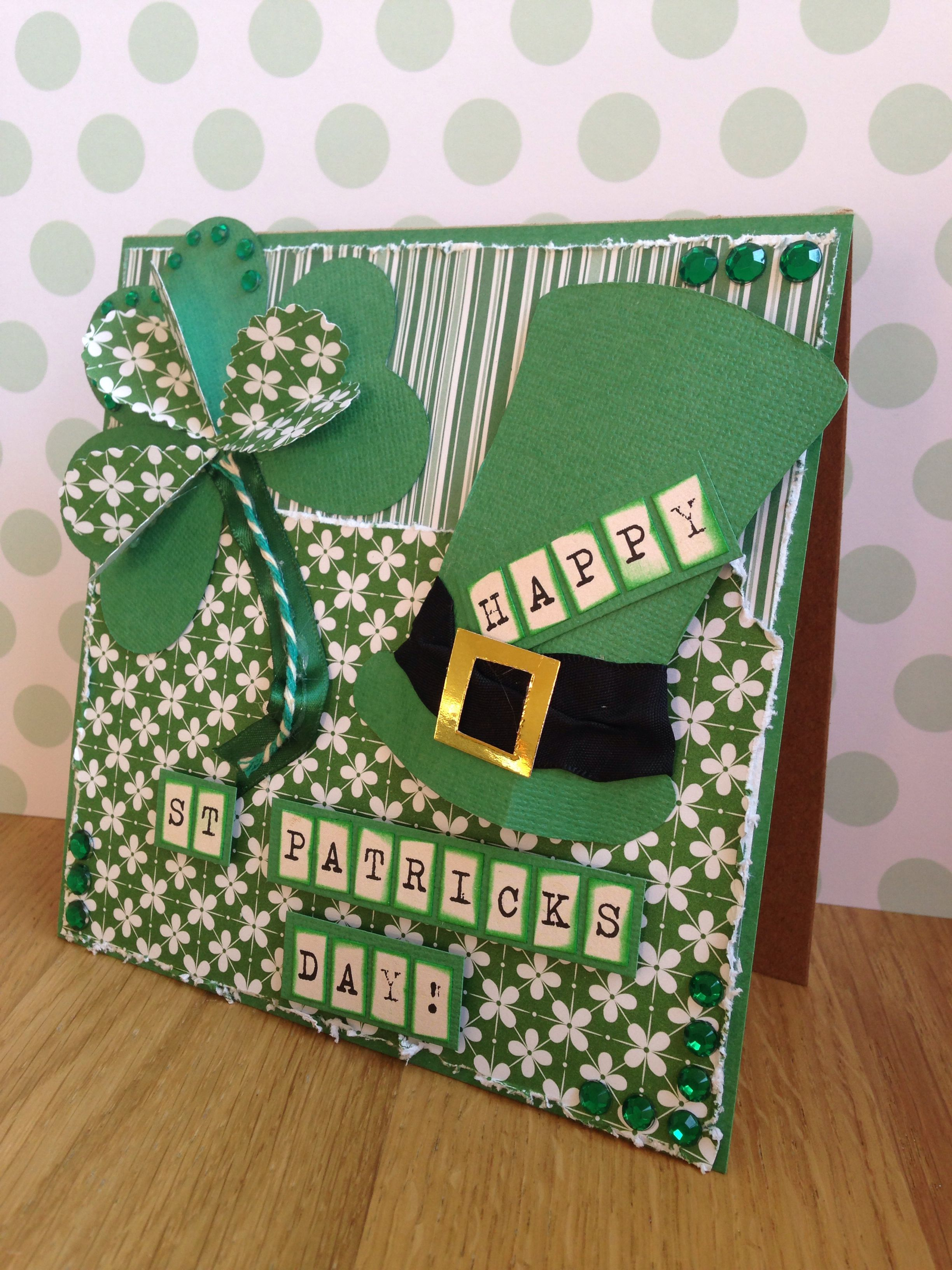 Happy st patricks day card made for cardmaking and