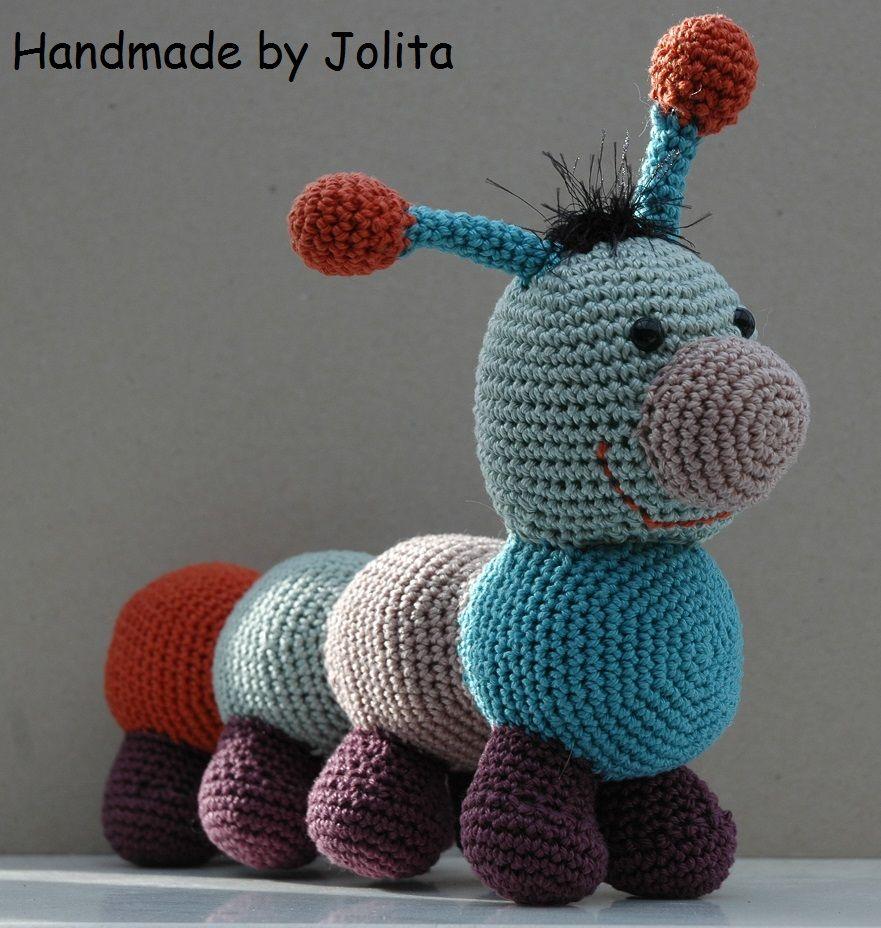 Rups Roosje, voor het patroontje: http://stipenhaak.blogspot.be/p ...