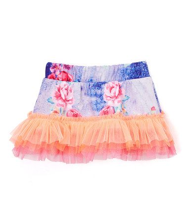 Love this Blue Sublimated Ruffle Skirt - Infant, Toddler & Girls on #zulily! #zulilyfinds