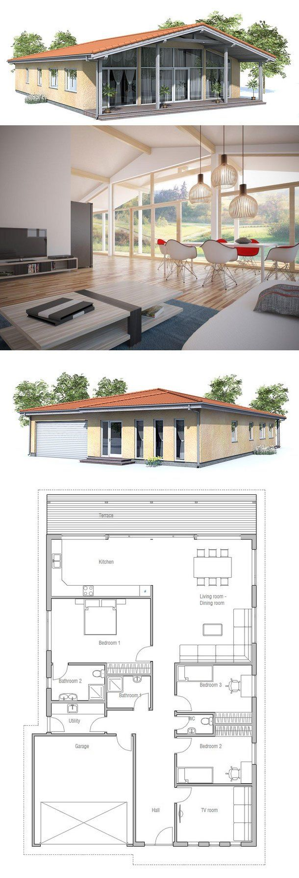 small house plan to narrow lot small home design with vaulted