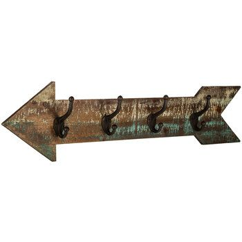 Arrow Wood Wall Decor With Hooks Home Decor Catalogs Wholesale