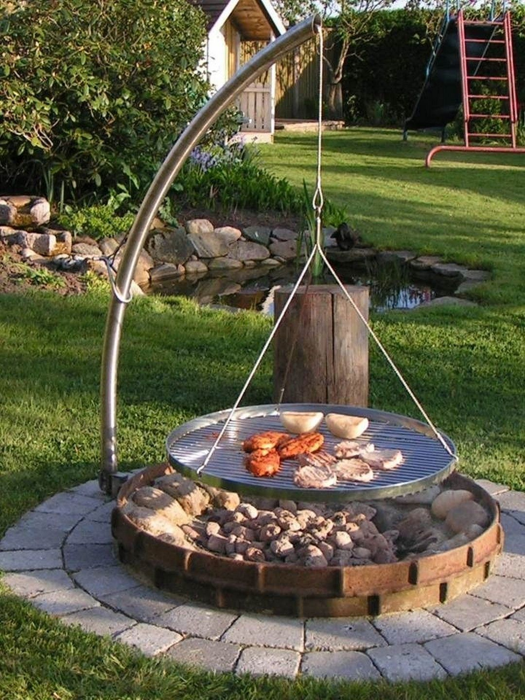 Stunning Backyard Fire Pit Patio Design