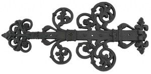 Decorative-Black-Iron-Strap-Hinge-(ZIR-300)