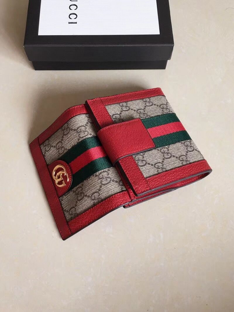6bfc68fd7dff Gucci Ophidia GG French Flap Wallet 523173 Red 2018 | Gucci 2018 ...