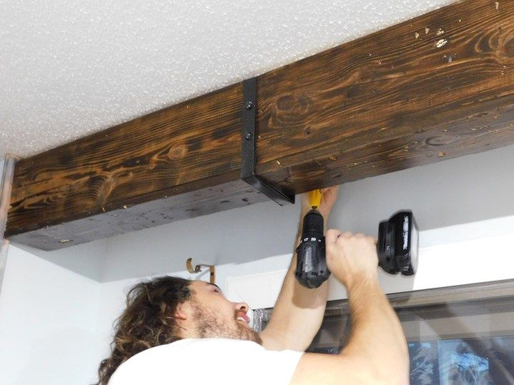 Diy Faux Wood Ceiling Beam Straps Brackets