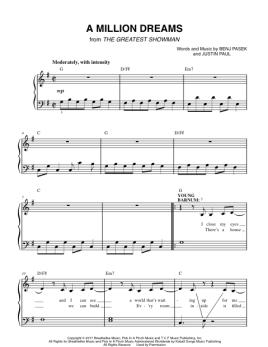 A Million Dreams Greatest Showman Easy Piano Sheet Music Lyrics And Video Easy Piano Easy Piano Sheet Music Sheet Music
