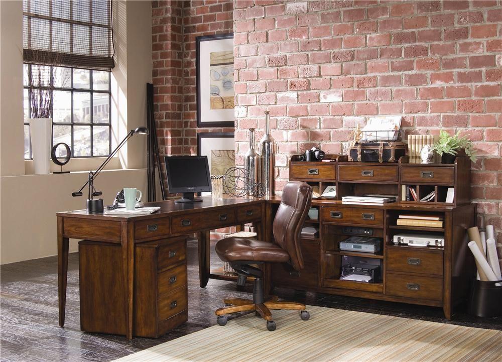 danforth open credenza desk unit by hooker furniture baer s