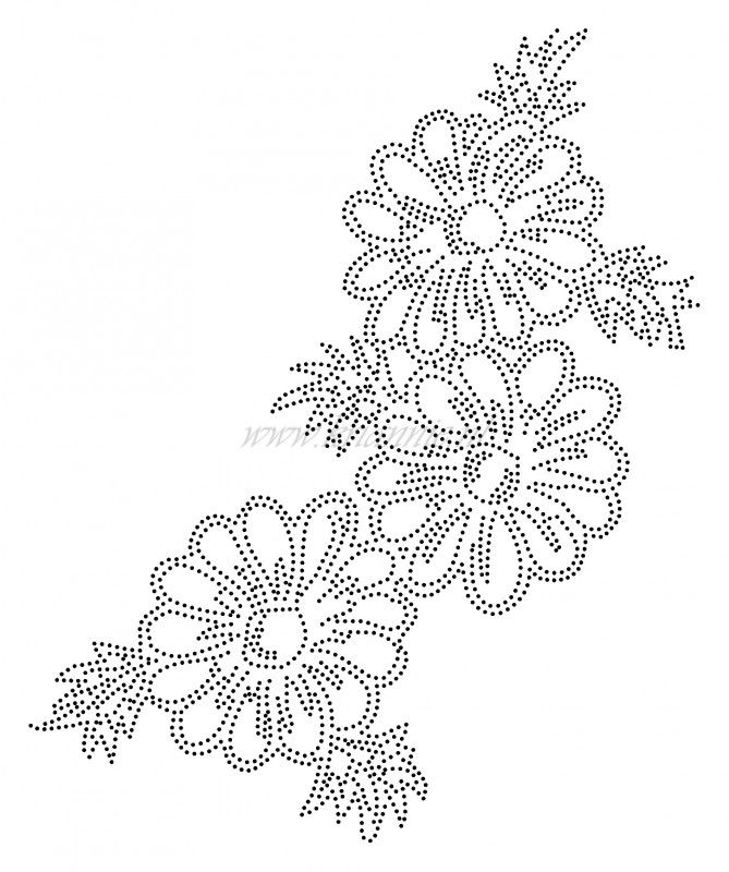 Bloemen | Bloemen en Planten | glittermotifs | Hotfix Vorlagen ...
