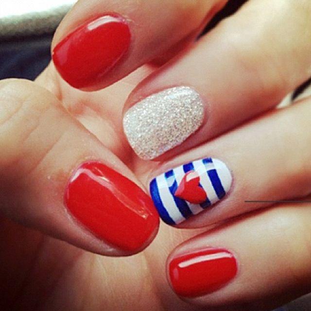 10 Memorial Day Manicures For the Weekend | Diseños de uñas, Uñas ...