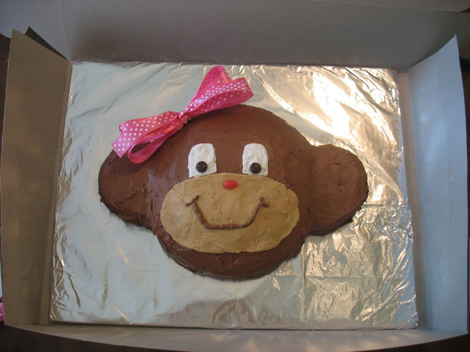 monkey cakes How to make a Monkey Cake Cakes Pinterest