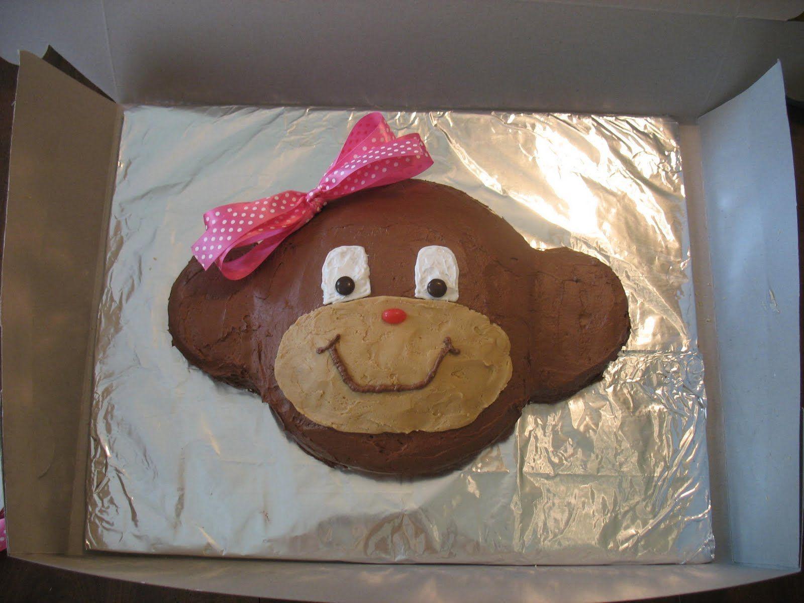 monkey cakes How to make a Monkey Cake Cakes Pinterest