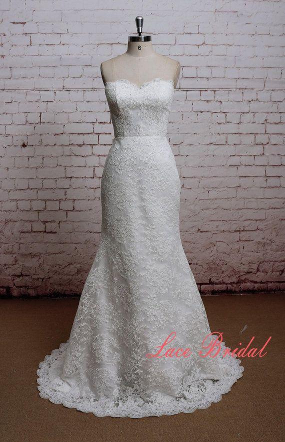 Neuer Stil Kleid Mermaid Stil Brautkleid klassische Lace Kleid ...