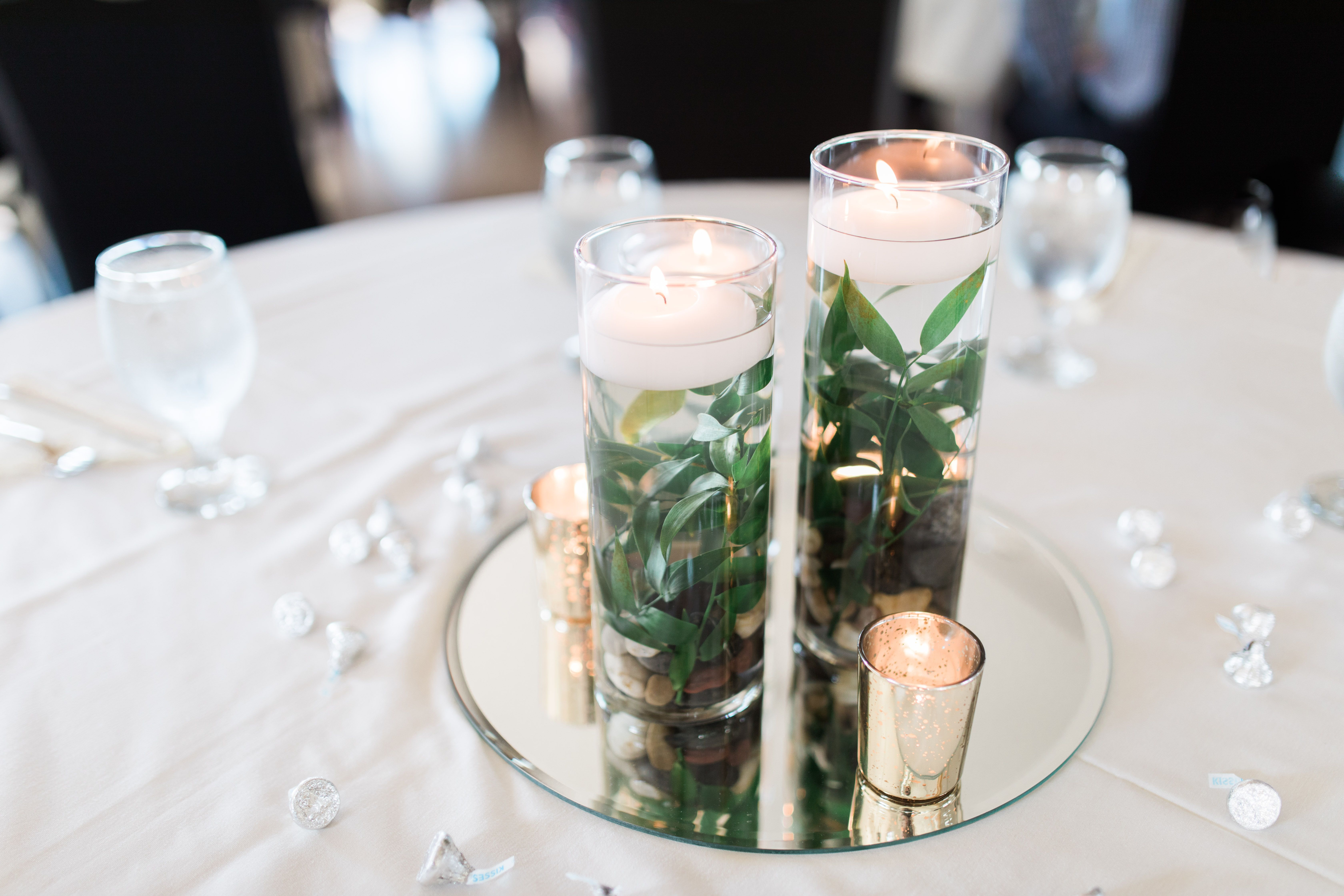 Reception decor, wedding decor, cylinder vases, simple elegance ...