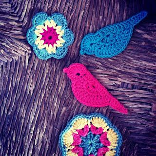 delimalimon craft: The monday's pattern: pájaros de ganchillo