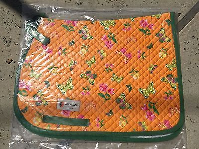 METRIZE PONY/ARABIAN ENGLISH QUILTED SADDLE PAD -  SPRING BUTTERFLIES   | eBay
