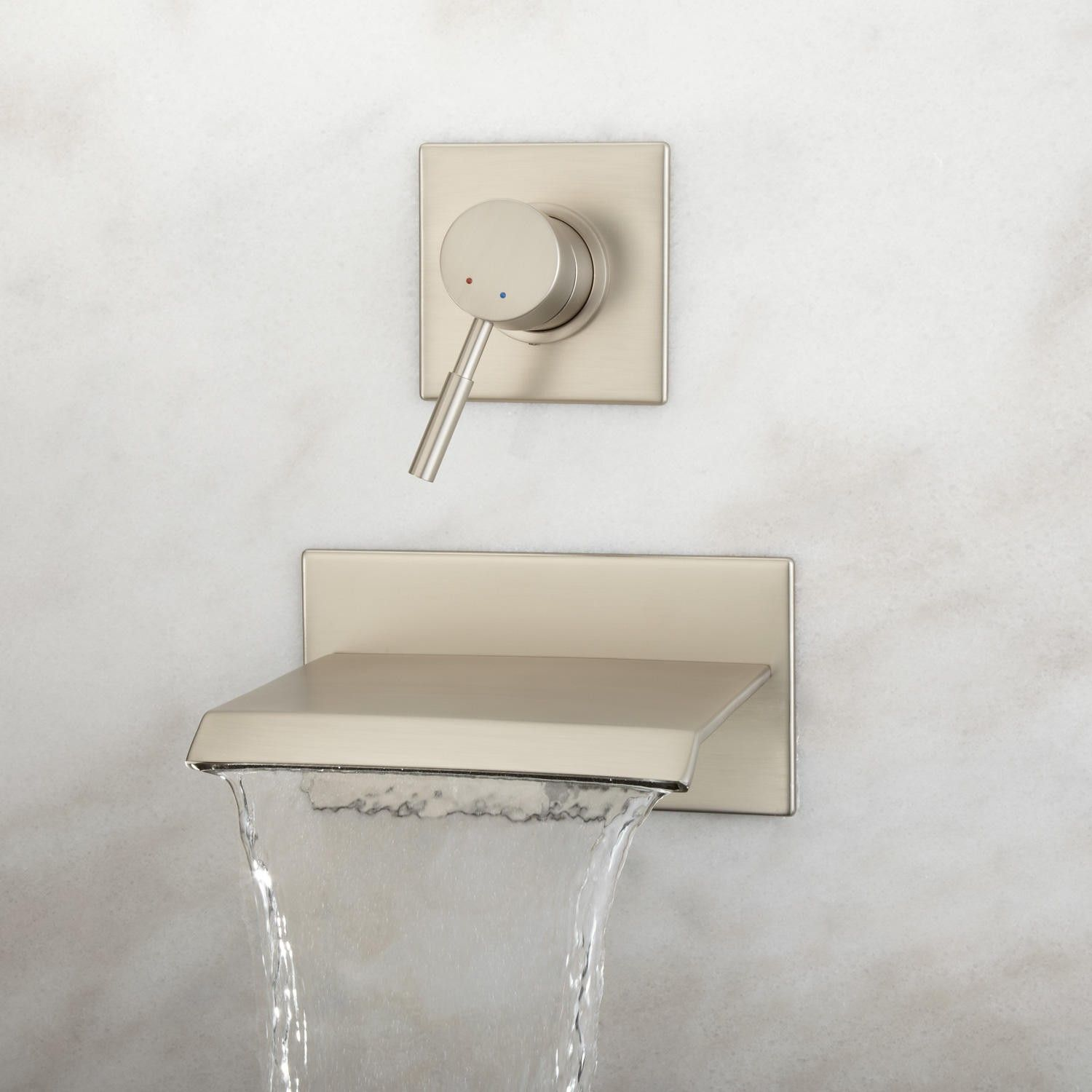 Lavelle Wall-Mount Waterfall Tub Faucet | Faucet, Wall mount and Tubs