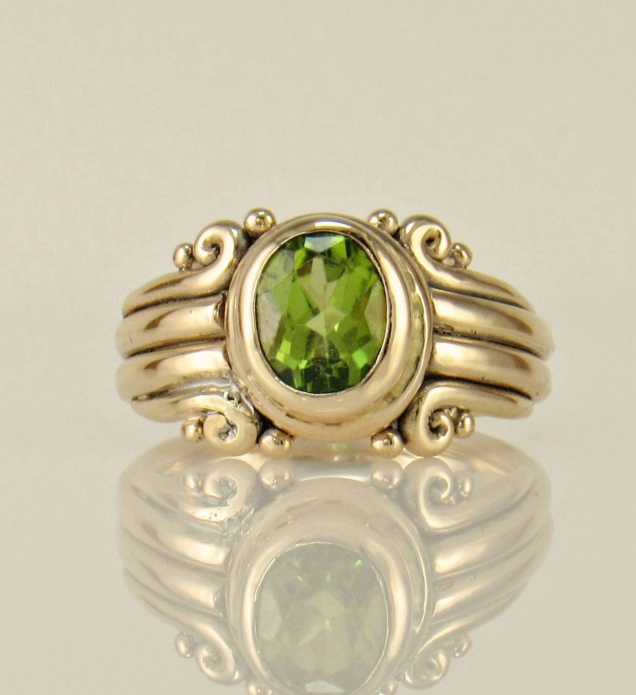 35++ Peridot wedding rings etsy ideas in 2021
