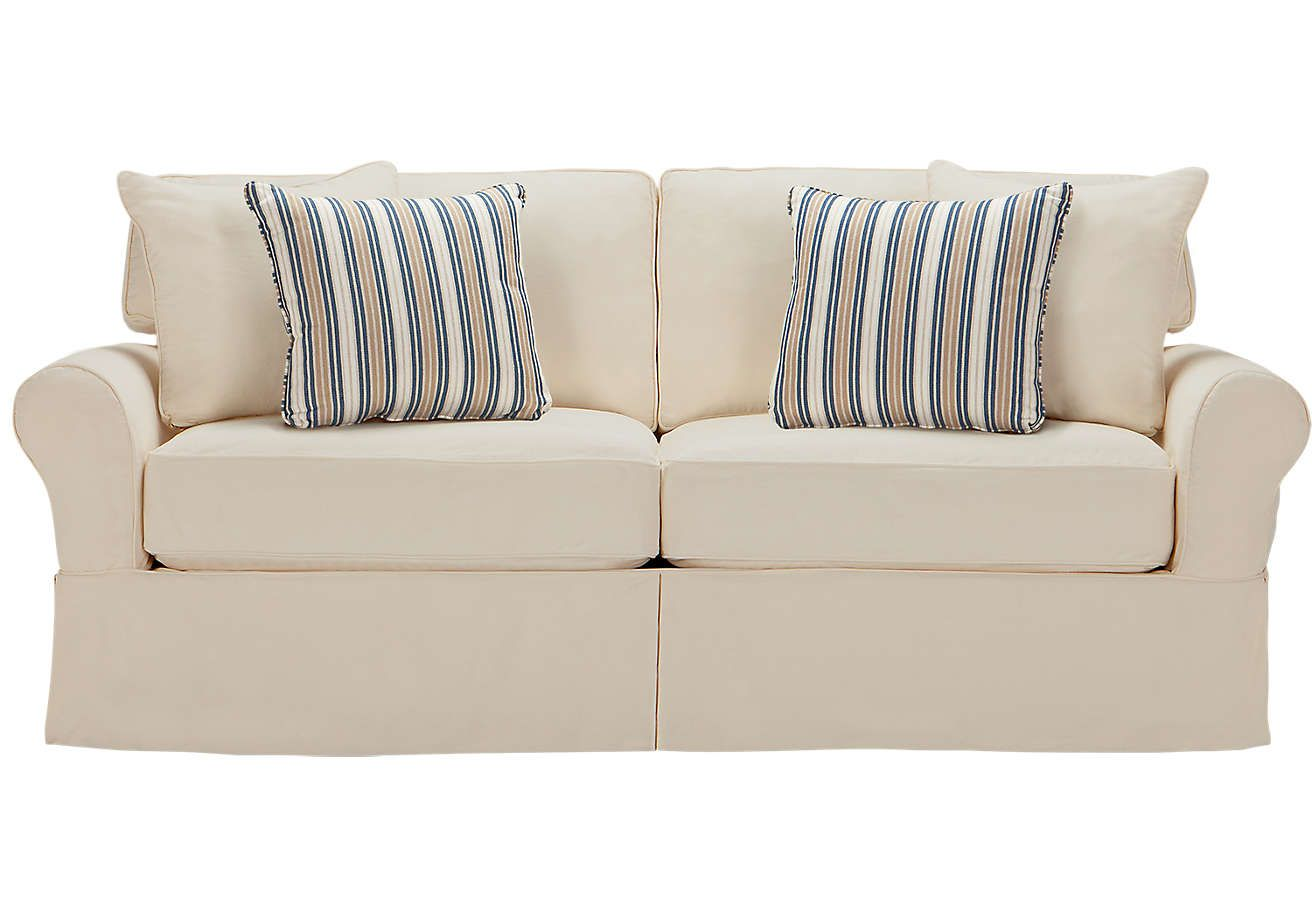 Delicieux Cindy Crawford Home Beachside Natural Denim Sofa   ISOFA Hidden
