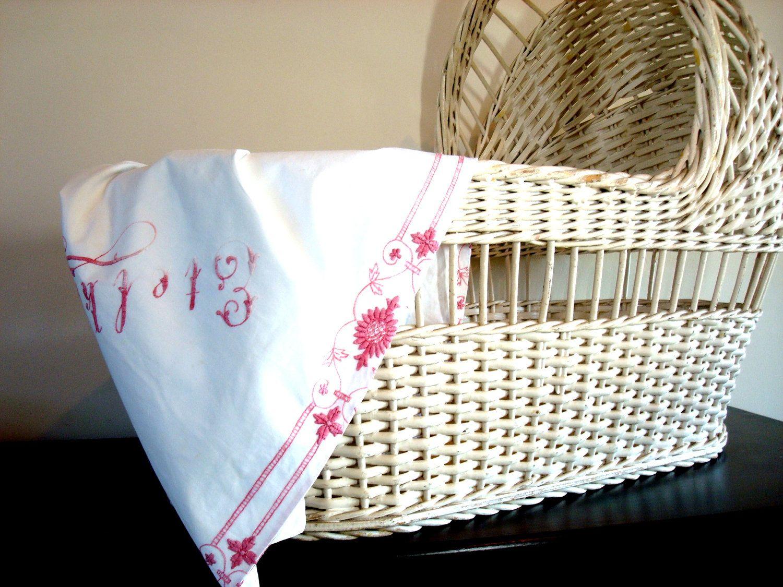 Vintage 1940 Wicker Baby Bassinet Baby Bassinet Wicker Bassinet