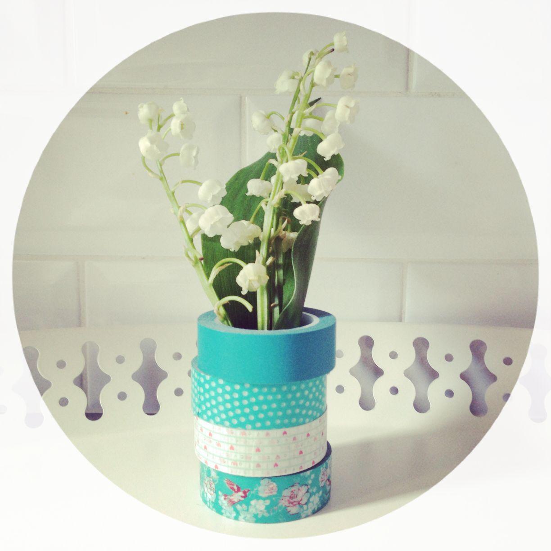 """1er mai : du muguet dans un vase """"masking tape"""" pour porter bonheur"""