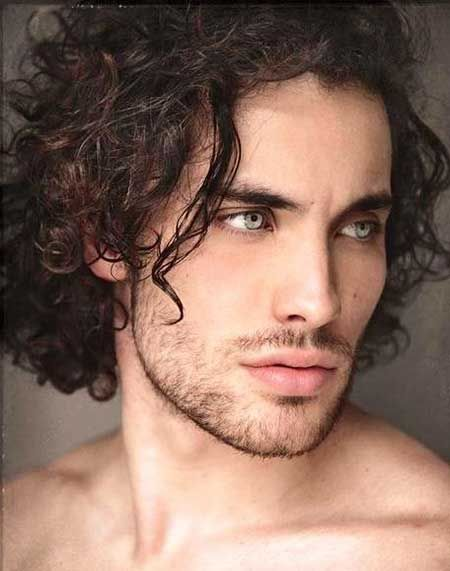 Long Curly Shaggy Hairstyle In 2019 Beard Styles For Men