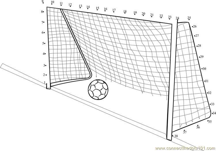 Soccer Goal Post Connect Dots Soccer Goal Post Soccer Goal Dots