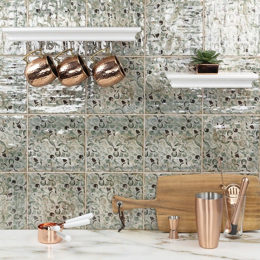 x 8 in polished ceramic wall tile 25