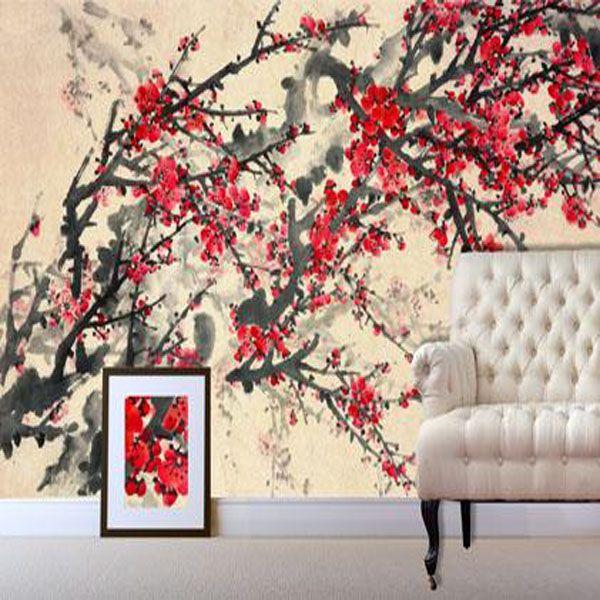Digetex Oriental Spring Blossom Wallpaper Mural Decor