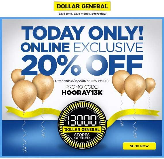 Pinned August 15th 20 off online today at DollarGeneral