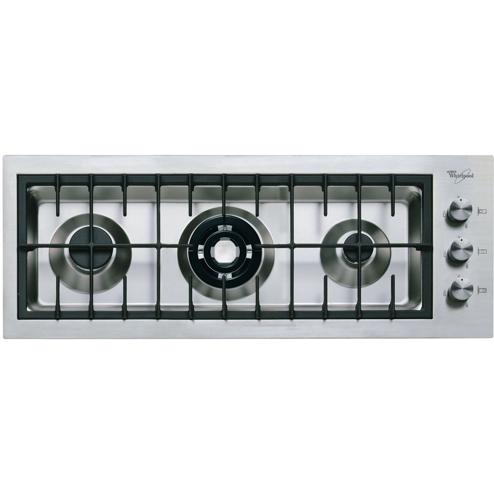 Piano cottura a gas Whirlpool: 3 fuochi - AKM 295/IX   piano cottura ...