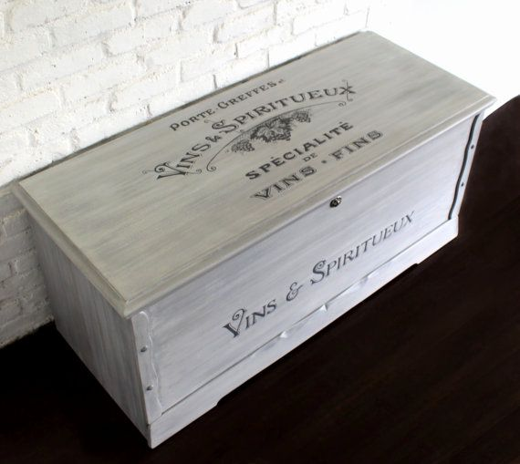 SOLD Gray/White Washed Cedar Chest Chalk Painted Wood by KrisNY ...