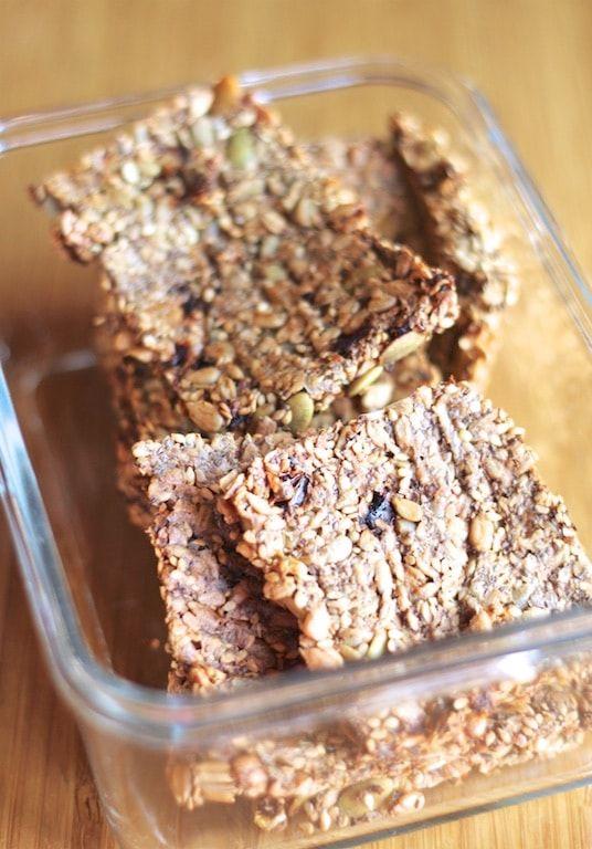 Super Seed Cracker Recipe Seed Crackers Recipe Cracker Recipes Food