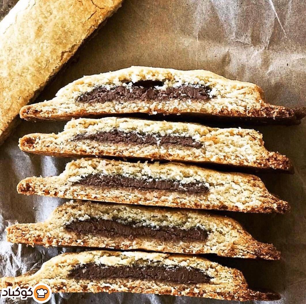 بسكوت اللوز محشي بشوكولاته البندق بالصور من Jamileh Recipe Snacks Food Biscuits