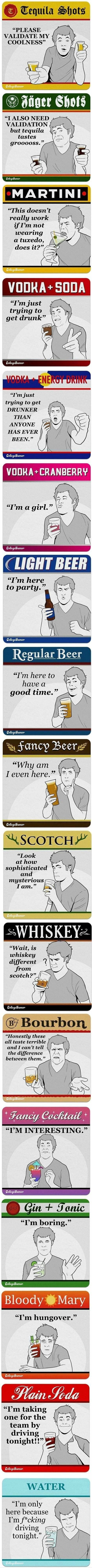 The reasons people drink what they do ;p