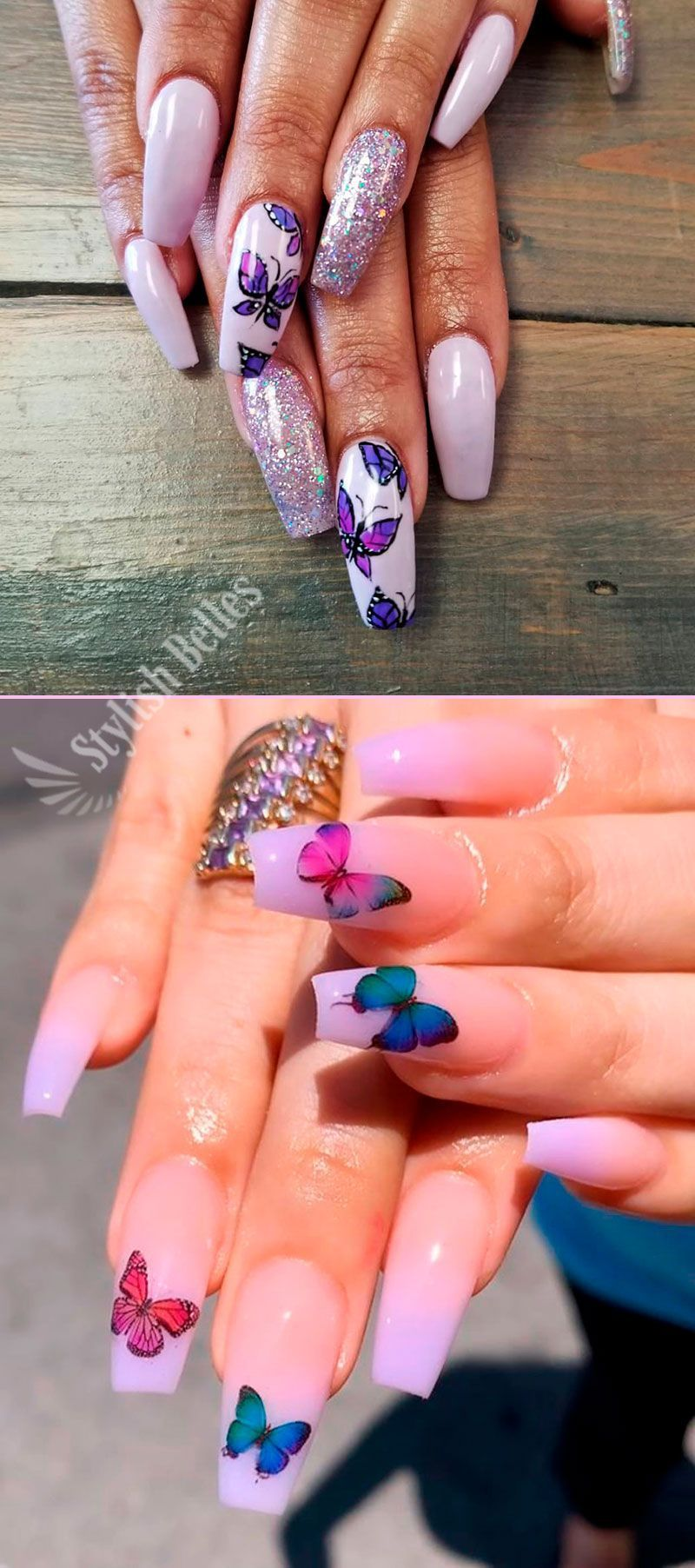 Amazing Butterfly Ideas Nails Purple Spring Springnailart Springnails Amazing Purple Butterfly Sprin Butterfly Nail Designs Spring Nails Butterfly Nail
