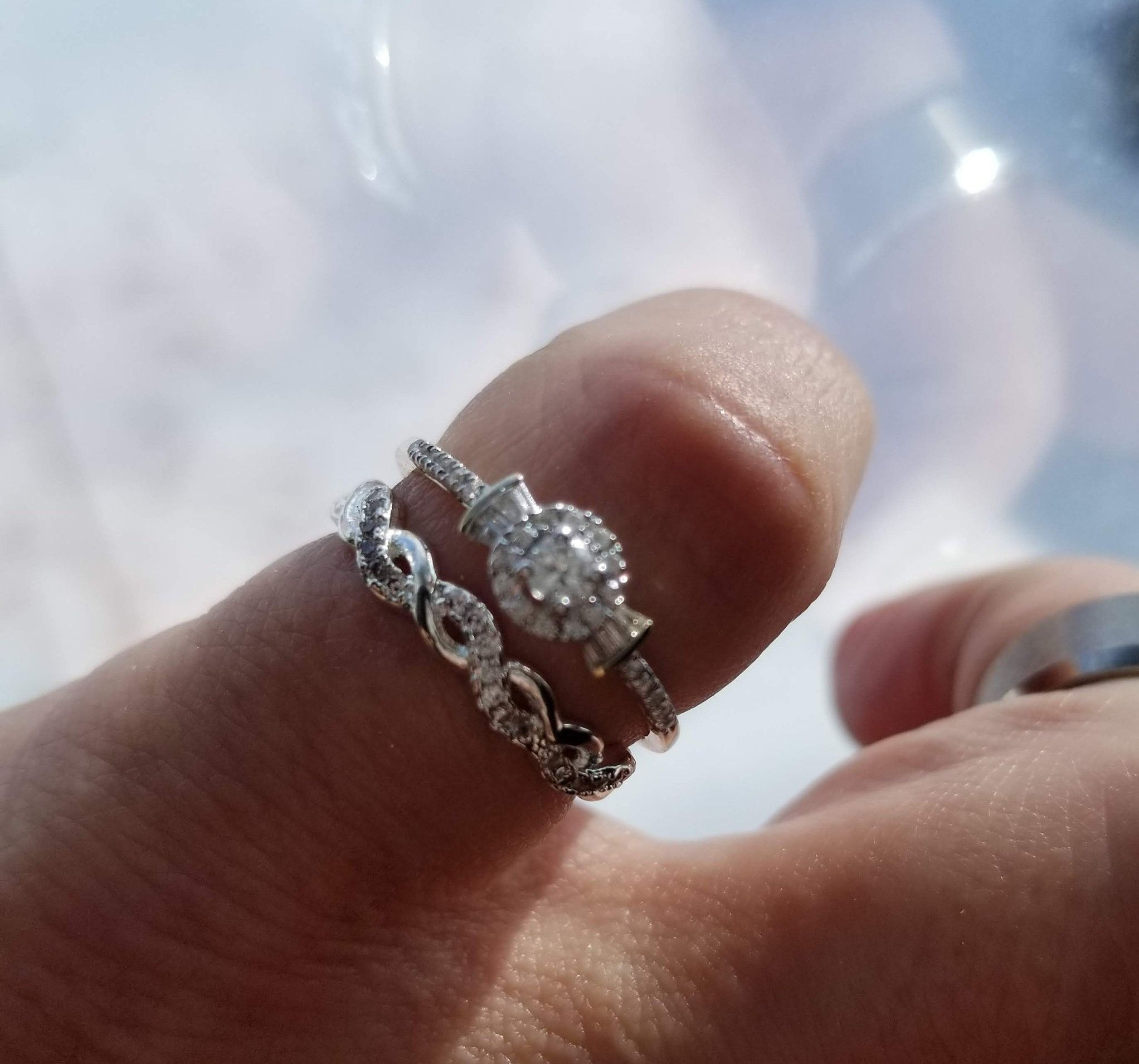 This Item Is Unavailable White Gold Promise Ring White Gold Rings Halo Diamond