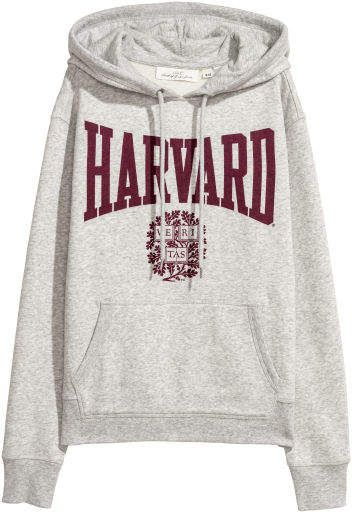 Printed Hooded Sweatshirt | Hooded sweatshirts, Sweatshirts