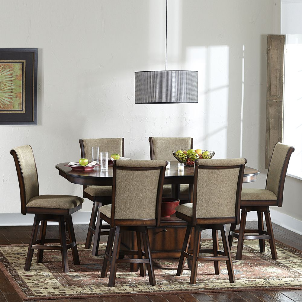 Kitchen sets with swivel chairs - Tribecca Home Glenbrook 7 Piece Counter Height Dining Set With Swivel Chairs By Tribecca Home